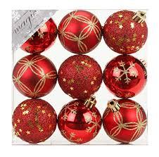 9 Stk Pvc Christbaumkugeln 6cm Rot Ornament Dekor Kunststoff Bruchfest Dekokugeln Weihnachtskugeln Baumkugeln Baumschmuck Set Christbaumschmuck