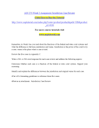 Adj 275 week 2 assignment jurisdiction case review by adsfdgfhgh - issuu