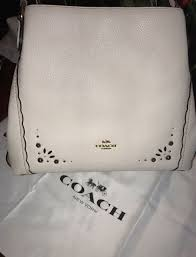 COACH EDIE MEDIUM LEATHER SHOULDER BAG 29336 CHALK  395 NWT