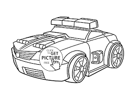 Small Picture Police Bot Coloring Pages For Kids Printable Free Rescue Bots With