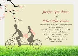 Cheap Bicyle Bride Groom Cherry Blossom Invitations For Garden