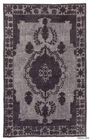black grey hand carved over dyed rug 6 4 x 10 5 76 in x 125 in