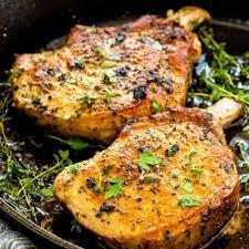cast iron skillet pork chops the