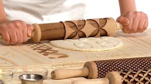 Patterned Rolling Pin Classy LaserCut Rolling Pins That Let You Create Edible Plates