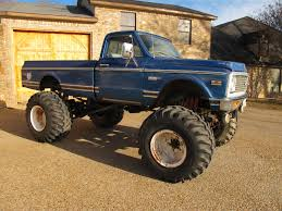 muscle cars for sale 1972 C20 truck 454 auto military axles 7625 ...