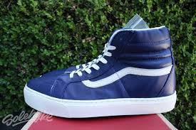 vans ca sk8 hi cup leather sz 10 5 blue whisper white vn 0177gj4 1 of 12