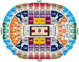 Quicken Loans Seating Chart Cavs Tickets Woodbury Travel