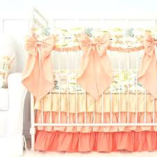 peach crib bedding dinning charming nursery ercup c erfly w bows v vintage