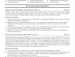 Event Planning Resume Sales Functional Resume Examples