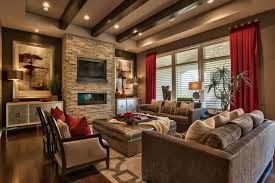 cozy living room with soft lighting soft pillows and blankets pops of comforting colors