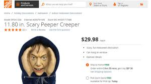 Small Picture Home Depot to pull Scary Peeper Creeper Halloween decoration WPXI