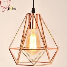 copper cage pendant light new modern plating metal cage pendant plating rose gold birdcage creative hanging