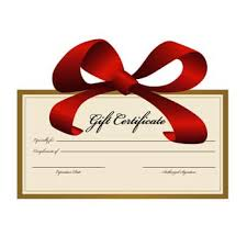 Holiday Gift Certificate Order A Holiday Gift Certificate Today