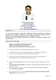 Chef De Partie Cv Template Uk   Create professional resumes online     LiveCareer CH    Yumei SHI Resume Personal Background       Name   Yumei SHI