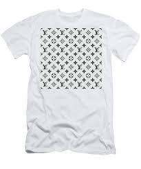 Louis Vuitton Pattern Lv 07 Grey Mens T Shirt Athletic Fit