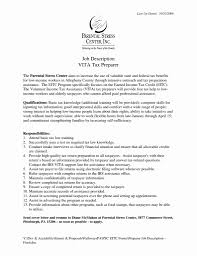 Tax Preparer Resume Samples Tax Preparer Resume Valid Tax Preparer Resume Sample Awesome Tax