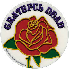 Grateful Dead Logo with Rose - Window Sticker / Decal (4