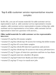 Customer Service Representative Resume Sample Magnificent Top 60 Att Customer Service Representative Resume Samples