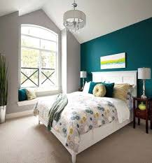 bedroom wall design ideas. Teal Bedroom Walls Accent Wall Design Ideas With Grey To Anchor And Citron Accents