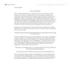 and sensibility essay sense and sensibility essay