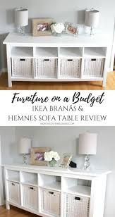 "Furniture on a Bud Ikea BRAN""S and Hemnes Sofa Table Review"