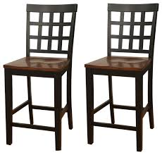 dining chairs bar stools. american heritage mia square block back counter height dining chairs, set of 2 transitional- chairs bar stools i