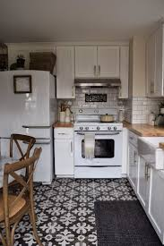 Lino For Kitchen Floors Retro Pattern Vinyl Flooring Droptom