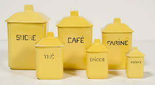 Yellow Canister Sets Kitchen French Ceramic Canisters Set Of 6 Omero Home