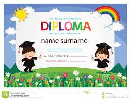 Free Graduation Background Designs Preschool Kids Diploma Certificate Colorful Background