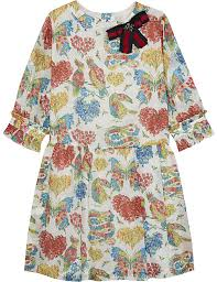 gucci for kids. gucci flower print cotton dress 4-12 years gucci for kids