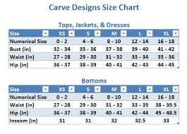 Bathing Suit Top Size Chart Carve Designs Tamarindo Bikini Top