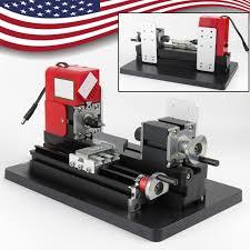 usa motorized mini metal lathe machine turning woodworking teaching diy tool