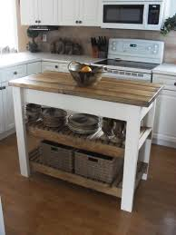 Movable Kitchen Cabinets Furniture Movable Kitchen Island With Shelves And Wood Top For