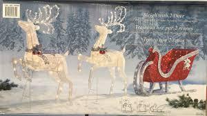 1 of 7free reindeer sleigh 400 led lights indoor outdoor garden decoration 2 deer