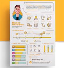 Matteo Innominato creative resume template.