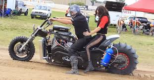 insane v8 powered dirt drag motorcycle racing america loves