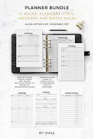 Meal Budget Planner Organizer Planner Printable Budget Planner Meal Planner Packing Checklist Cleaning Checklist Reading List Password Tracker Pages Pdf