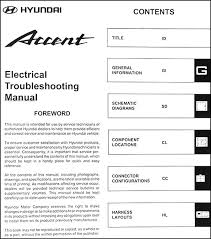 2000 hyundai accent wiring schematic just another wiring diagram 2000 hyundai accent electrical troubleshooting manual original rh faxonautoliterature com hyundai elantra wiring diagram wiring colum hyundai
