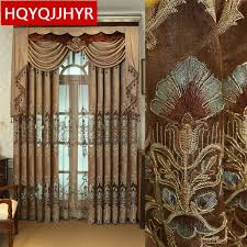 brown curtains for bedroom. Exellent Brown Brown Custom Luxury European Embroidery Curtains For Living Room Classic  Villa Highend Throughout Curtains For Bedroom R
