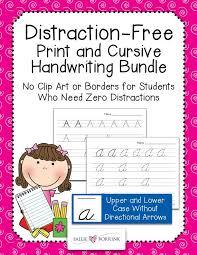 Distraction-Free Print & Cursive Handwriting Practice Bundle ...