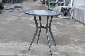 lounge factory clovis bistro round table anthracite