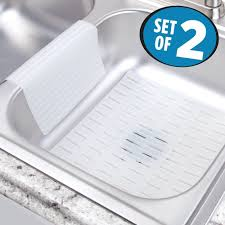 Buy Mdesign Silicone Kitchen Sink Mat And Sink Divider Protector