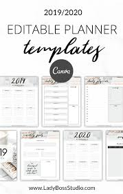 Daily Planner Template 2020 Nurtured Life Planner Templates Canva Planner Template