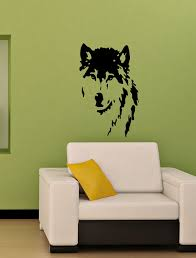 Small Picture Vinyl Decal Wolf Dog Home Wall Art Decor Removable Stylish Sticker