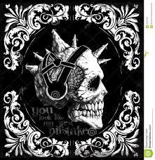 Design Skull T Shirt Vintage Skull T Shirt Graphic Design Stock Vector