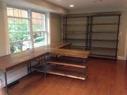 homemade office desk. t shaped desk for two diy office homemade s
