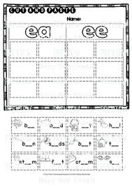 So far you can see we have a variety of sets of worksheets that deal with beginning sounds and phonics is obviously an important early developmental skill for children to start learning and our worksheets can help kids learn phonics. Long Vowel Teams Sorts Ee Ea Cut And Paste Worksheets By Busy Bee Studio