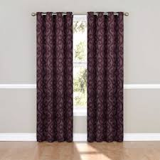 purple blackout curtains target pus grey wall and wooden floor for home interior design ideas