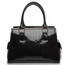 Jaide Quilted Enamel Patent Tote Bag In Black &  Adamdwight.com