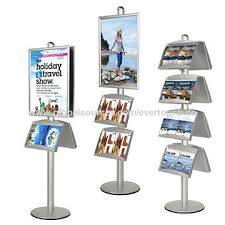Multiple Poster Display Stands China Multiple Functions Info Display Snap Open Poster Stand with 40